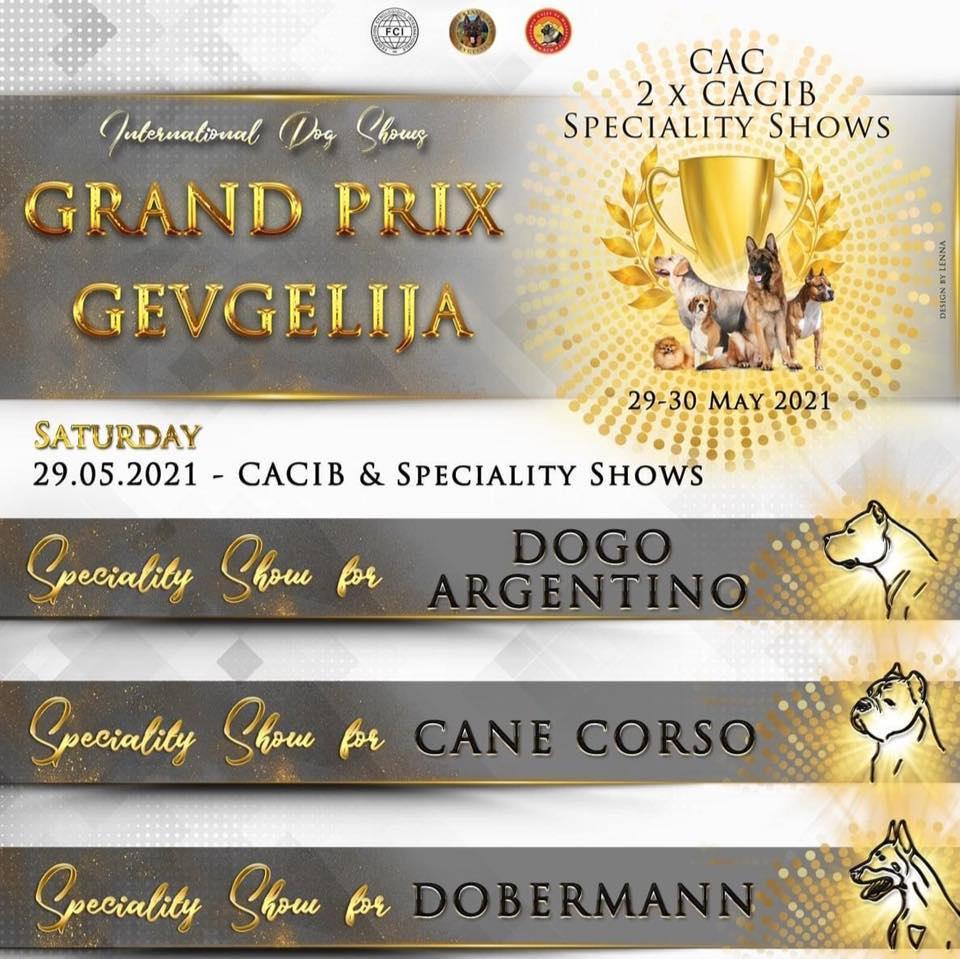 Интернационална изложба Grand Prix Gevgelija 29.05.2021 – CACIB