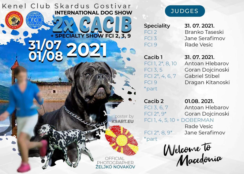 Изложба на кучиња Skardus Gostivar 2021