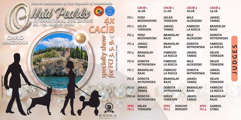 ИНТЕРНАЦИОНАЛНА ИЗЛОЖБА OHRID PEARLS 2021 CACIB